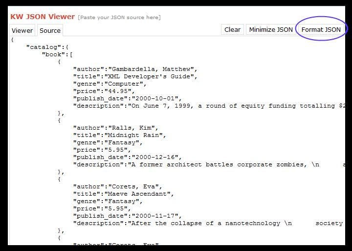Json List Format Example | PhpSourceCode.Net